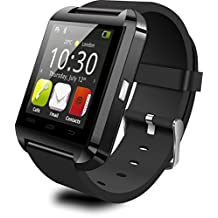 """KOOGOGO U8 Smart Watch Bluetooth Wristwatch Phone with 1.48"""" Touch Screen for IOS & Android Smartphones (Black)"""