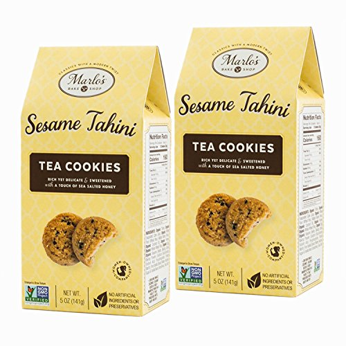 Marlo's Bakeshop, Organic Sesame Tahini Gourmet Cookies, Non-GMO Dairy Free, Soy Free, Nut Free (2 pack)