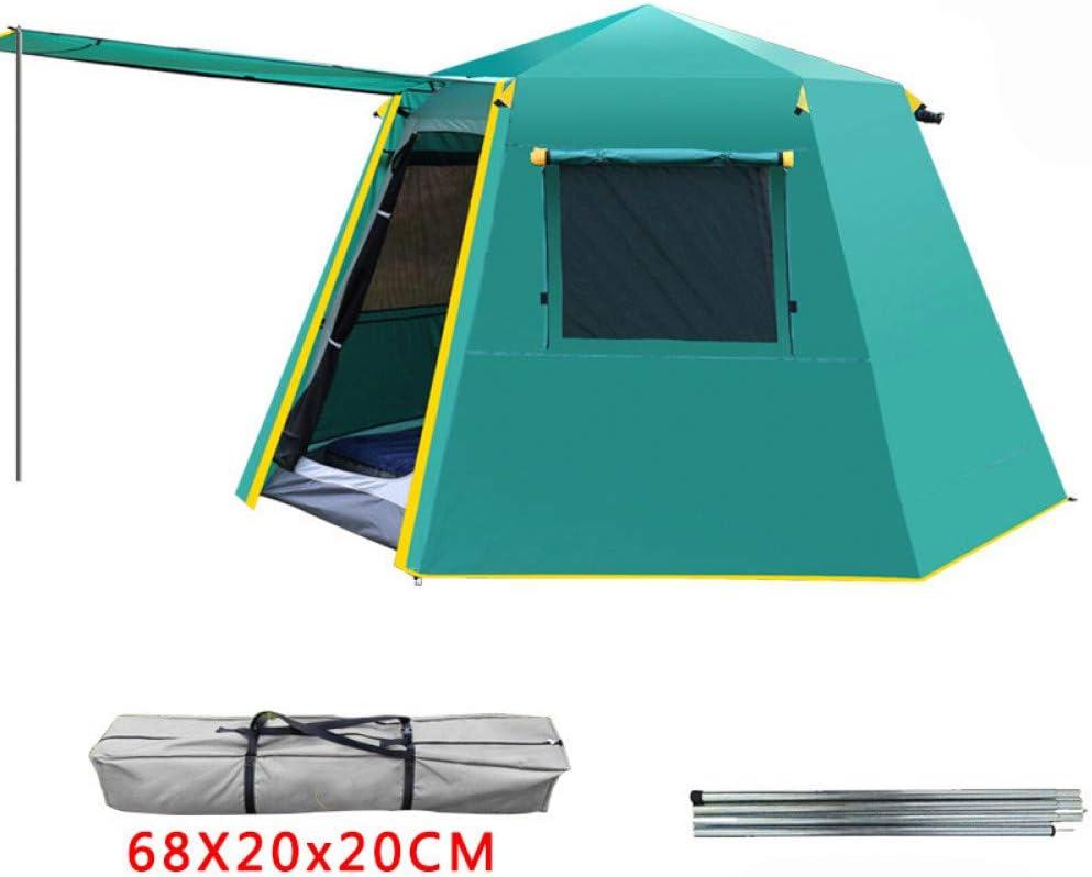 ZHJLOP Carpa UV Hexagonal Poste de Aluminio automático Exterior Camping Salvaje Carpa Grande 3-4persons toldo jardín pérgola 245 * 245 * 165 CM: Amazon.es: Deportes y aire libre