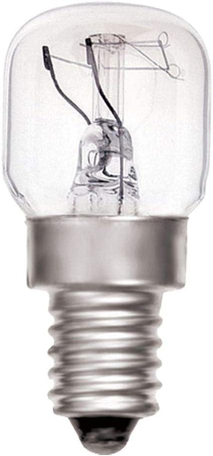 Value Concepts - Bombilla para horno (25W, E14, para temperaturas de hasta 300 °C, 230V, revestidas de teflón, mecanismo interno de seguridad, 4 unidades): Amazon.es: Iluminación
