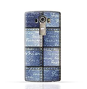 LG G4 TPU Silicone Case with Denim Fabric Seamless Design Design