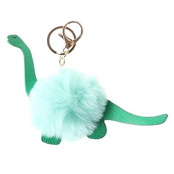 Amosfun - Llavero con pompón de Piel de Dinosaurio con ...