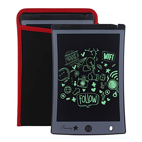 Sunany LCD Writing Tablet,8.5-Inch Drawing Board Doodle Board Reusable Doodle Pad Writing Pad,Electronic Drawing Pad and Writing Board is The Gift for Kids at Home and School (Black)