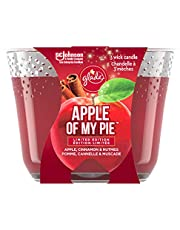 Glade Large Jar Candle, Apple Cinnamon, Fills Rooms With Essential Oil Infused Fragrance
