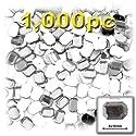 長方形の八角形Craftsコンセント1000-pieceアクリルアルミ箔フラットバックラインストーン、8by 10mm、クリア