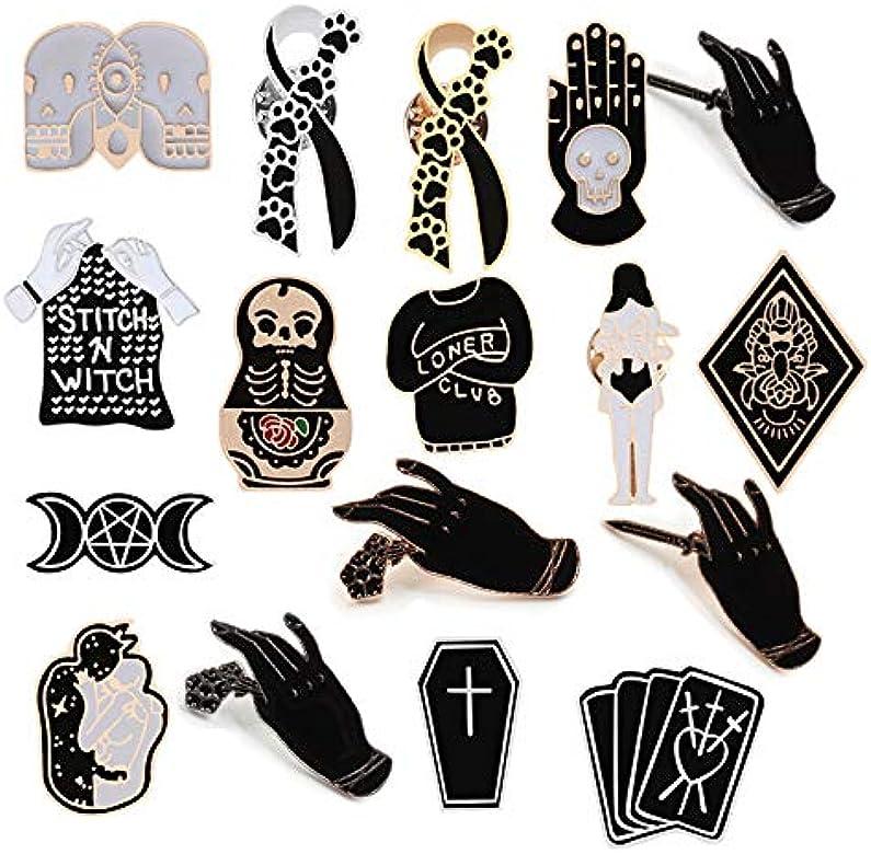 Creativo Bruja negra Tarjetas de ataúd Ropa Corbata Broche Gato ...