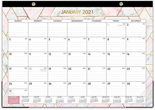 "2021-2022 Desk Calendar - Large Monthly Desk Calendar, 22"" x 17"", Desk Pad, January 2021 - June 2022, Large Ruled Blocks, Best Desk Calendar for Organizing"
