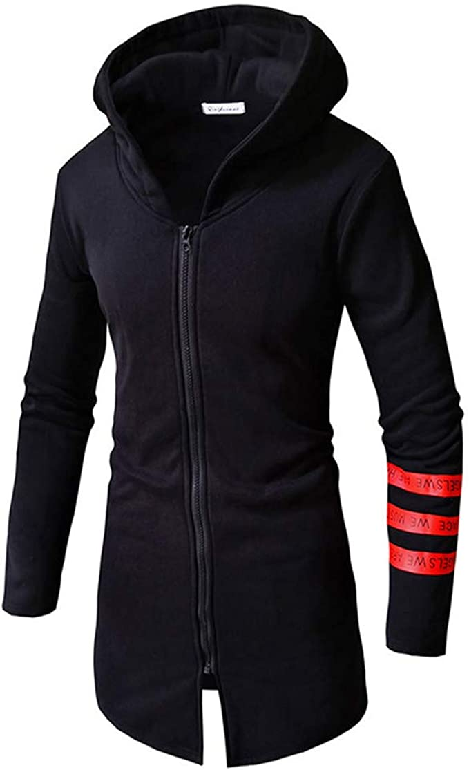 Mens Button Hoodie Pockets Jackets Winter Warm Zip Fit Coats Casual Overall Tops
