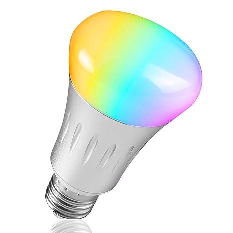 Unitify Lampadine Intelligenti Con Amazon Echo Alexa U0026 Google Wifi Smart  Bulb Multicolore Dimmable Timer Telecomando