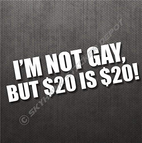 2297a50115679 I'm Not Gay Funny Bumper Sticker Vinyl Decal Dope JDM Prank Sticker Car  Truck Window Decal