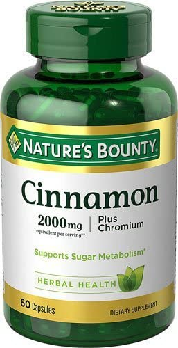 Nature s Bounty Cinnamon plus Chromium — 2000 mg – 60 Capsules – 2pc