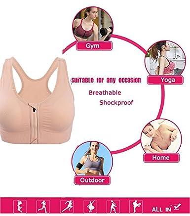 Kimikal Women Post-Surgery Front Closure Sports Bra