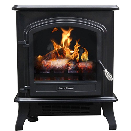 1500W Decor Flame Infrared Stove Heater, QCIH413-GBKP, 17.5