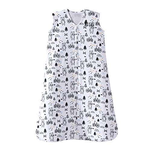 Cotton Wearable Blanket, Huggy Bears, Medium (Kiddopotamus Sleepsack)