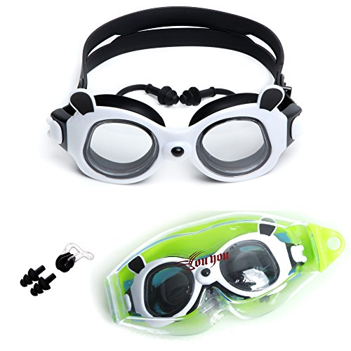 c55f2d5b598 youyou Kid Swimming Goggles Swim Glasses for Kids Age 5-14 Swim Goggles  with Free Protection Case (Black)
