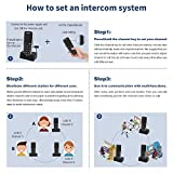 Rechargeable Intercoms Wireless for Home 5280 Feet