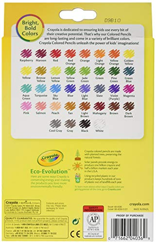 36 Premium Quality Pre-Sharpened Pencils Long-Lasting Crayola Colored Pencils