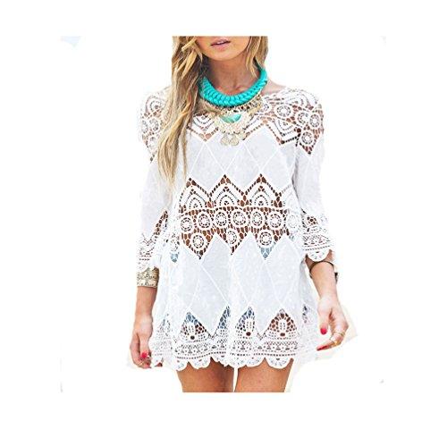 Nuova moda donna Costumi da bagno Crochet tunica coprire up/Beach Dress Stile A