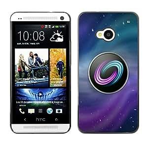 HTC One M7 , JackGot - Colorful peau Imprimé protection dur Retour Housse Shell (Logo Jeu PC Gamer jeux Ubuntu Etoiles)