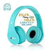 MIDOLA Kids Bluetooth Wireless Headphones Wired On-Ear Headset Foldable Earphone with AUX 3.5mm