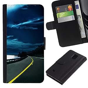 JackGot ( Natura Bella Forrest verde 151 ) Samsung Galaxy Note 4 IV la tarjeta de Crédito Slots PU Funda de cuero Monedero caso cubierta de piel