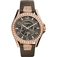 Fossil Riley Multifunction Leather Watch...