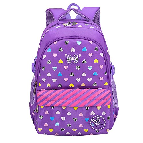Hearts Printed kids School Backpacks for Girls Children School Bags Bookbags