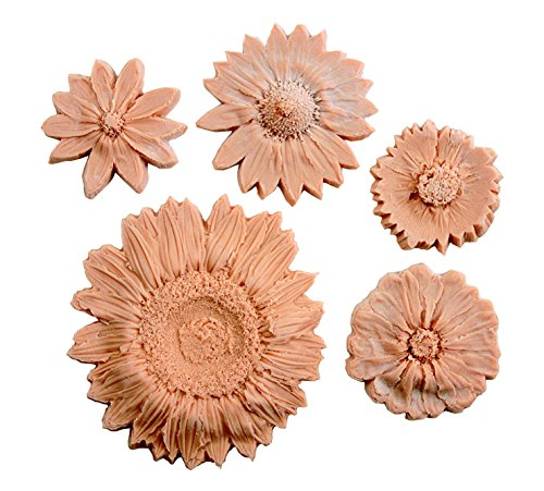 Sax Nature Impressions Flower, Tan, Assorted Sizes (Set of 5) -