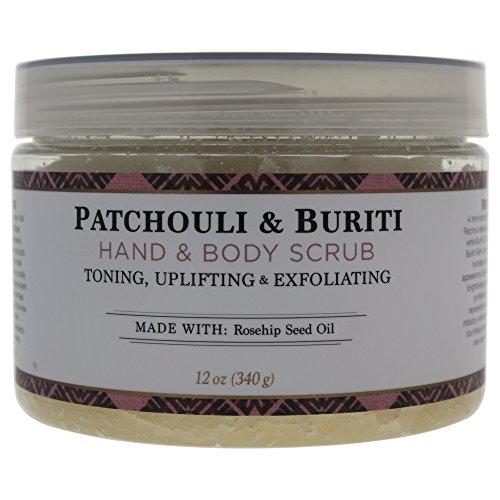Nubian Heritage Patchouli & Buriti Hand & Body Scrub, 12 Ounce (Plants That Don T Like Epsom Salt)
