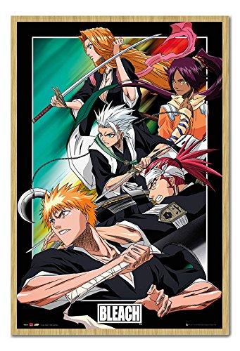 Bleach Manga Anime Group Poster Beech Framed & Satin Matt Laminated cms Approx