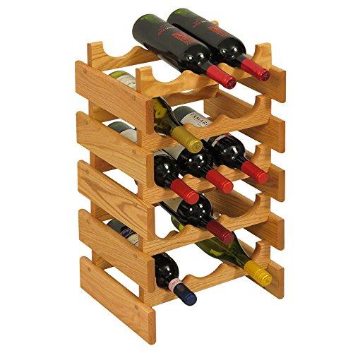 Wooden Mallet 15 Bottle Dakota Wine Rack, Light Oak (Dakota Light 15)