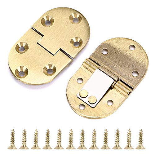 OwnMy 2Pcs 90 Degree Solid Brass Hinge, Drop Front Desk Drawer Butt Hinge for Table Sewing Machine,Doors and Folding Table with Screws (2Pcs 90 - Drop Down Drawers