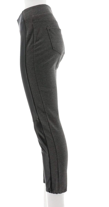 c9a3837fce001 DG2 Diane Gilman Faux Leather Ponte Legging 560-454 at Amazon Women's  Clothing store: