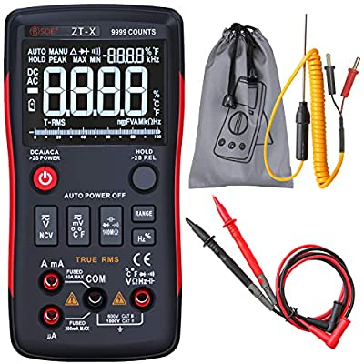 BSIDE Digital Multimeter Auto Range True RMS AC/DC Voltage Current Resistance Diode Continuity Meter Tester