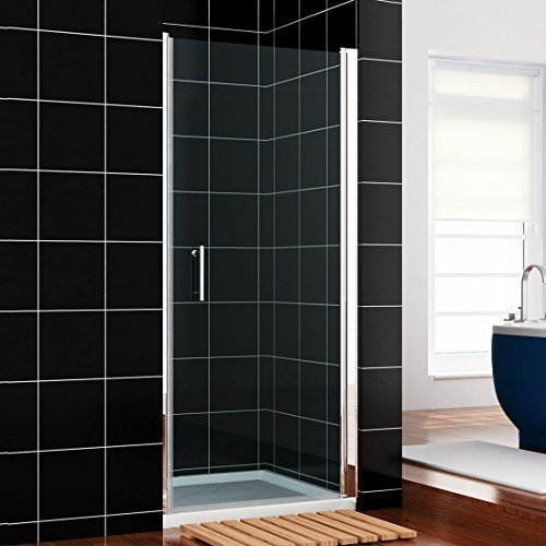 700mm Frameless Pivot Shower Enclosure Glass Screen Shower Door NEXT WORKING DAY DELIVERY by sunny showers