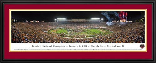 2013 Ncaa Football Champion - BCS 2014 Football Champions - Florida State - Blakeway Panoramas College Sports Posters with Deluxe Frame