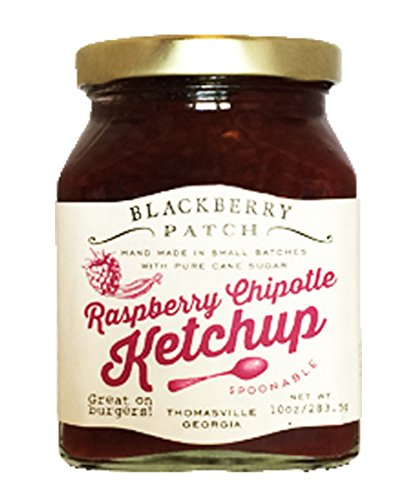 Blackberry Patch Gourmet Fruit Raspberry Chipotle Ketchup All Natural Handmade In Small Batches | Go well with grilled meats sweet potato fries and in sandwiches. (10 fl oz, Raspberry Chipotle)