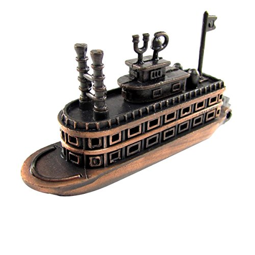 Bronze Metal Steamboat Paddle Boat Replica Die Cast for sale  Delivered anywhere in Canada