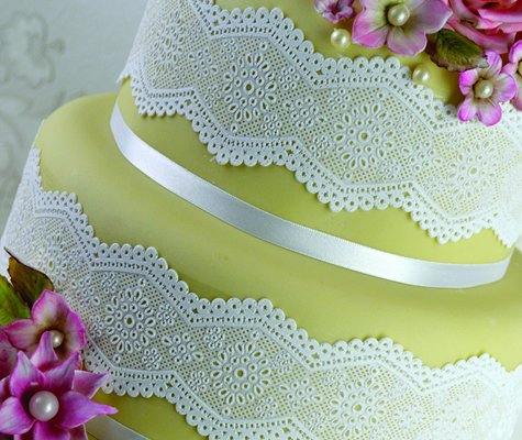 Claire Bowman 3D Cake Lace Cake Strip - Broderie Anglaise by CLAIRE BOWMAN