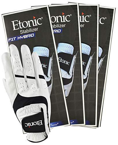 Etonic 3 NEW AC FEEL 2 Mens Golf Gloves Left Hand Regular Size Medium M Black ()