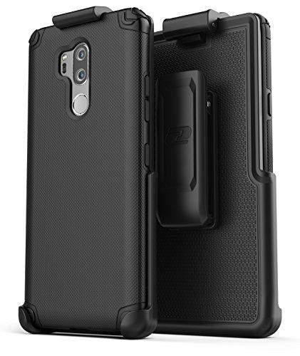 LG G7 ThinQ Belt Clip Case, Encased (Nova Series) Slim Grip Case Holster LG G7 Phone 2018 (Black) ()