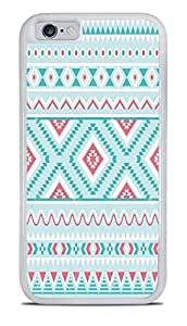 Baby Blue Tribal Design Pattern White 2-in-1 Protective Case Cover For HTC One M7 )