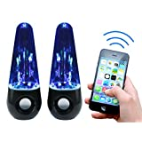 Rebelite Aura v1 Water Show Bluetooth Dual Speaker System w/ Powerful Sound & Dancing Water for iPhone, Android, & Any Bluetooth Device Including Smart Phones, Tablets, mp3 Players, & more by Rebelite