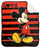 Jay Franco Disney Mickey Mouse Love Sherpa Throw