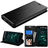 LG V10 Case,LG V10 Wallet,IDEA LINE INC(TM)Black Wallet Leather Case Premium Pouch ID Credit Card Cover Flip Folio Book Style with Money Slot+Free Stylus Pen