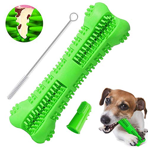 gelugee Dog Toothbrush Stick Natural Rubber Bite Resistant Chew Toy Puppy Dental Care Brushing Stick Teeth Cleaning…