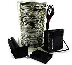 Win-Win Outdoor Solar String Lights 56ft 150 LED Waterproof Silver Wire DIY Fairy String Lights For Christmas Thanksgiving Indoor & Outdoor Decoration Warm White 4 packs