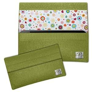 SIMON PIKE Cáscara Funda de móvil NewYork 8 verde Samsung GALAXY GRAND 2 Fieltro de lana