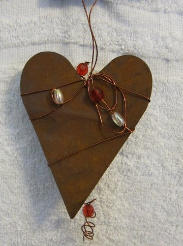 Heart Beaded Ornament (Beaded Heart Ornament)