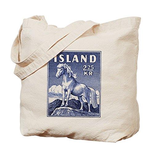 Bolso de totalizador de CafePress - Islandia 1958 islandesas caballo sello de correos totalizador Ba